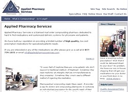 Applied Pharmacy Services Web Site
