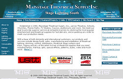 Mainstage Theatrical Supply Web Site