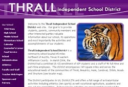 Thrall Independent School District Web Site